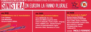 CONTRO IL LIBERISMO DI RENZI E DELLA MERKEL, A ROMA SABATO SI INCONTRANO LE FORZE DELLA SINISTRA EUROPEA