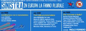 Sinistra, in Europa la fanno plurale – Roma, 13 febbraio