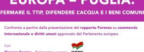 """""""Europa-Puglia: fermare il TTIP, difendere l'acqua e i beni comuni"""", venerdì 15 luglio a Bari con Eleonora Forenza"""