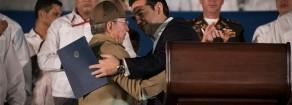 L'addio di Alexis Tsipras a Fidel Castro