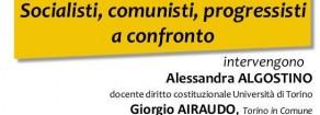 Sinistra plurale. Iniziativa unitaria a Torino mercoledì 15 febbraio