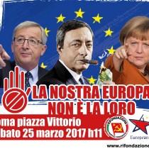 Sabato 25 in piazza contro l'Europa di Maastricht