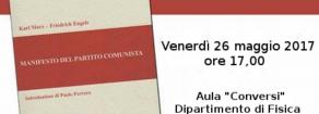 """L'attualità del """"manifesto"""" con Paolo Ferrero il 26 maggio 2017 a Roma"""