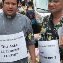 Solidarietà al reverendo Panerini per le minacce omofobe e fasciste