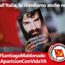 Dall'Italia lo chiediamo anche noi: donde està Santiago Maldonado?