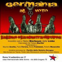 """""""Il voto in Germania e la Sinistra Europea"""", Roma, 14 settembre ore 17"""