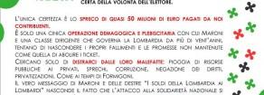 Referendum di Maroni: una truffa con i nostri soldi