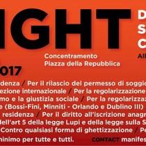 Sabato alla manifestazione Fight/Right Diritti senza confini, a Roma, per dire stop alla guerra tra poveri: vogliamo accoglienza e reddito minimo