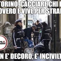 Torino – Locatelli (Prc): «Questa notte, davanti al Comune, dormiremo all'addiaccio contro le politiche di pulizia sociale dell'amministrazione Appendino»