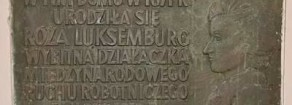 Petizione contro la rimozione della lapide commemorativa nel luogo di nascita di Rosa Luxemburg