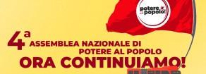 Quarta assemblea nazionale di Potere al Popolo. Ora continuiamo!