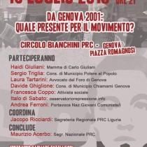 Oggi e domani a Genova per ricordare Carlo Giuliani e continuare a chiedere verità e giustizia per la mattanza del 2001