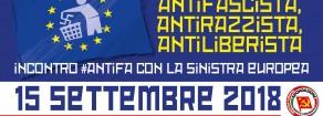 Antifà, incontro antifascista a Milano con la Sinistra Europea sabato 15 settembre