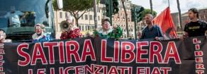 Cacciati da Roma con un Daspo gli operai licenziati dalla Fiat/Fca