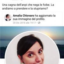 Hate speech, solidarietà alla nostra compagna Amalia Chiovaro