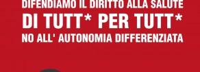 Presentazione dell'appello: no all'autonomia che divide