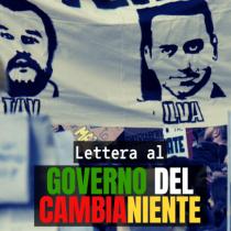 LETTERA DI MOVIMENTI E ASSOCIAZIONI AL GOVERNO DEL CAMBIANIENTE