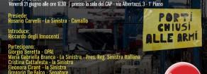 La Sinistra a fianco dei lavoratori del porto di Genova che hanno impedito l'imbarco delle armi per la guerra nello Yemen