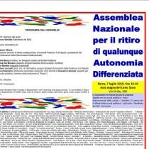 No all'Autonomia Regionale Differenziata! Assemblea nazionale
