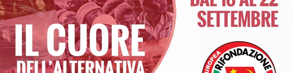 """Dal 17 al 22 settembre, Festa nazionale del PRC-S.E. a Firenze, """"Il cuore dell'alternativa"""""""