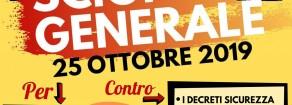 Rifondazione Comunista sostiene sciopero generale dei sindacati di base 25 ottobre