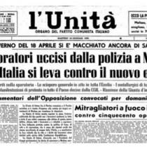Pietro Ingrao: l'eccidio di Modena, 9 gennaio 1950