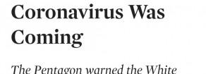 Coronavirus: il Pentagono aveva avvertito Trump nel 2017, rivela The Nation
