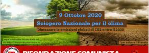 Sciopero nazionale per il clima il 9 ottobre.