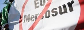 """9 novembre, mobilitazione ed azione contro """"l'accordo di libero commercio"""" tra la UE ed il Mercosur."""