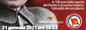 Rifondazione Comunista, 21 gennaio 2021: iniziative per il centenario a Livorno e Torino e un convegno europeo in diretta su facebook