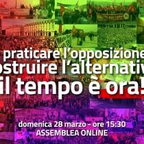 Rifondazione: domenica assemblea on line, opposizione per l'alternativa