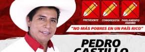 PERU': Rifondazione Comunista saluta il Presidente Pedro Castillo