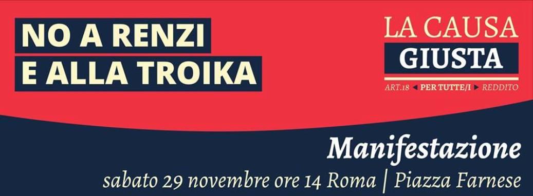 29 novembre e 12 dicembre, tutte e tutti a Roma!