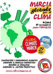 clima 29 novembre manifesto prc davanti 121115x291115