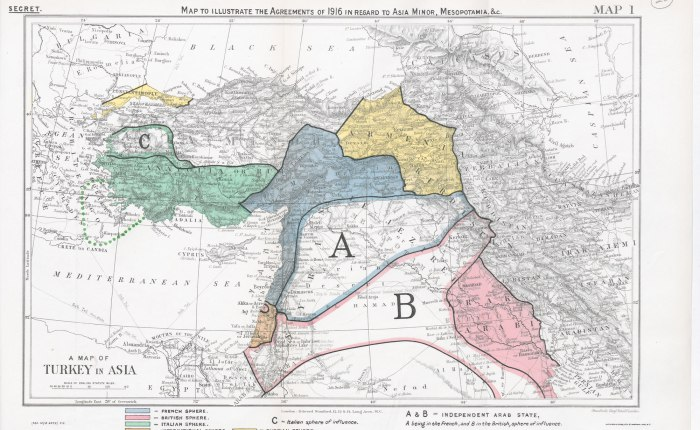 mappa medio oriente