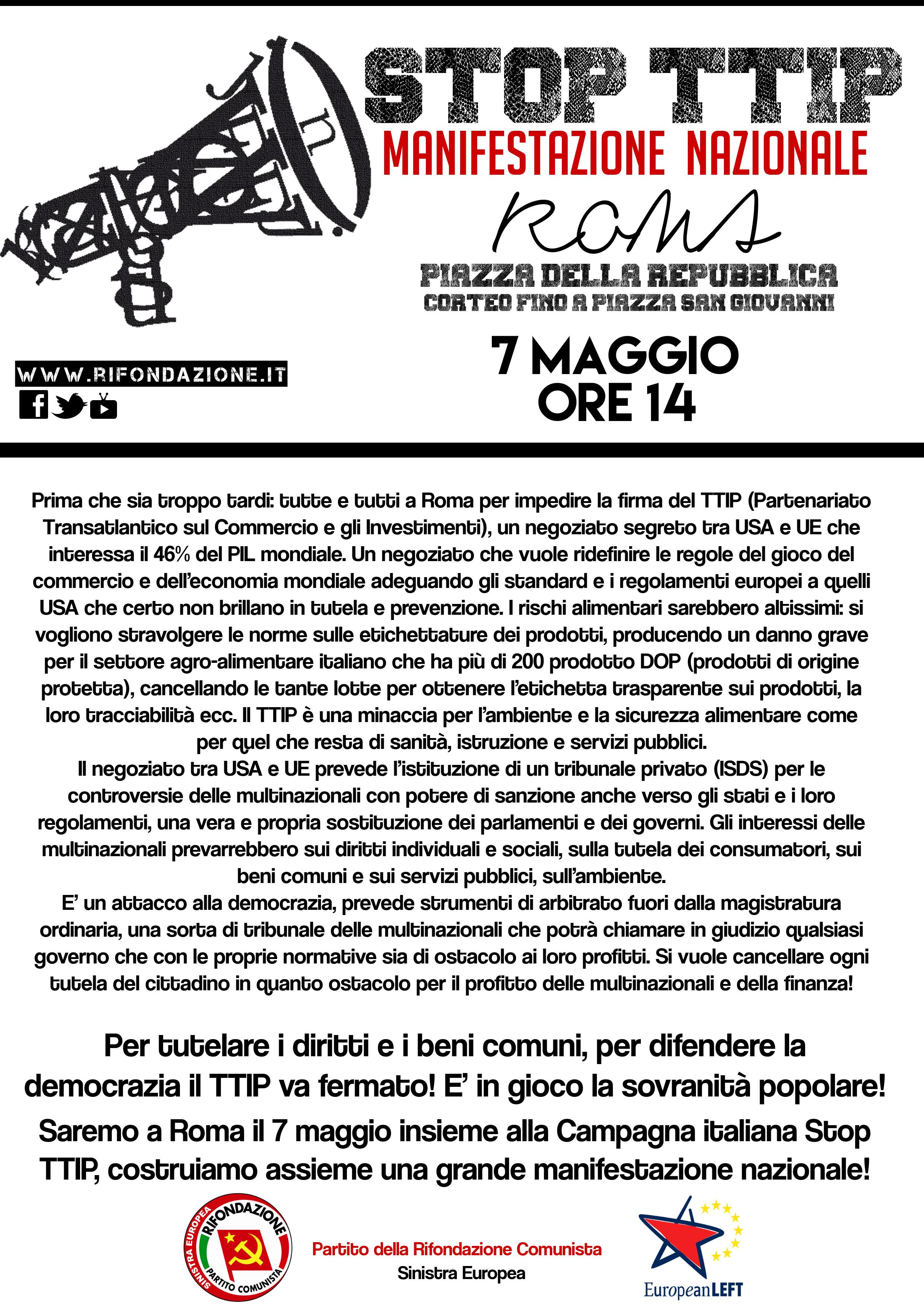 7 maggio Stop TTIP 3