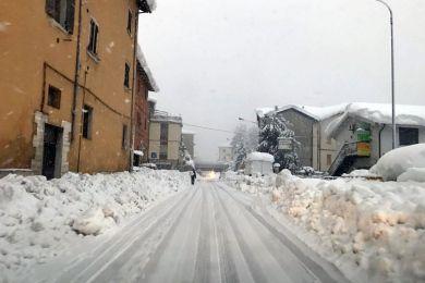 neve terremoto