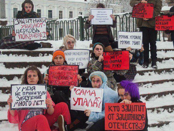 donne russe contro violenza domestica
