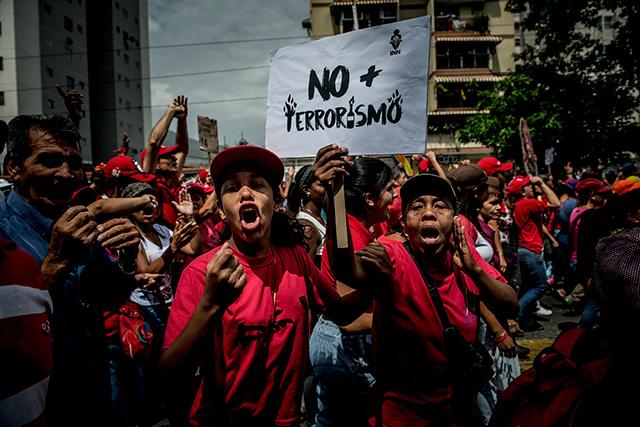 venezuela-manif-partisans-gouvernement