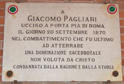 xxsettembre Cremona_-_Lapide_a_Giacomo_Pagliari