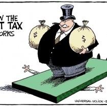 Con la Flat-Tax ti fregano! Volantino e materiali utili