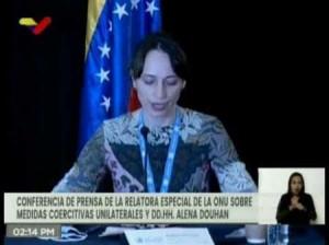 Venezuela: La relatrice speciale dell'ONU, Alena Douhan, sulla situazione dei diritti umani e gli effetti delle sanzioni coercitive e unilaterali sulla popolazione